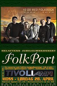 FolkPort Jubileumskonsert - Plakat